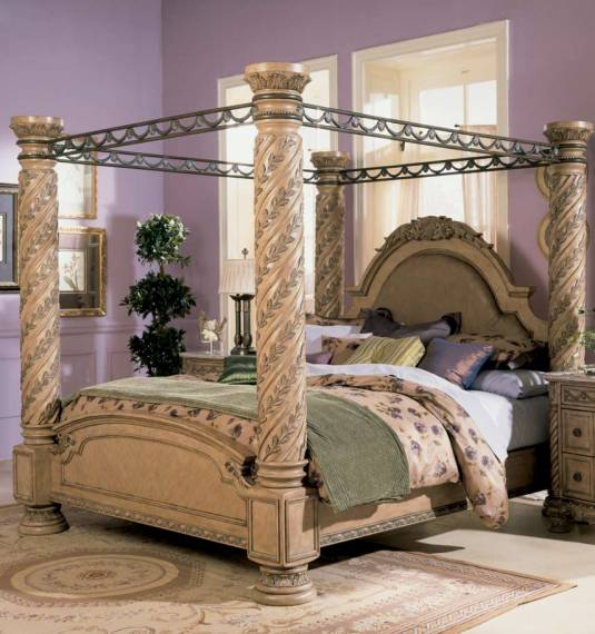 camas con dosel columnas