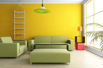 decorar con verde y amarillo