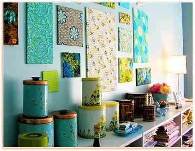 Decorar con telas for Papel para tapizar paredes