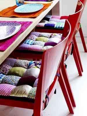 asientos para tus sillas en patchwork