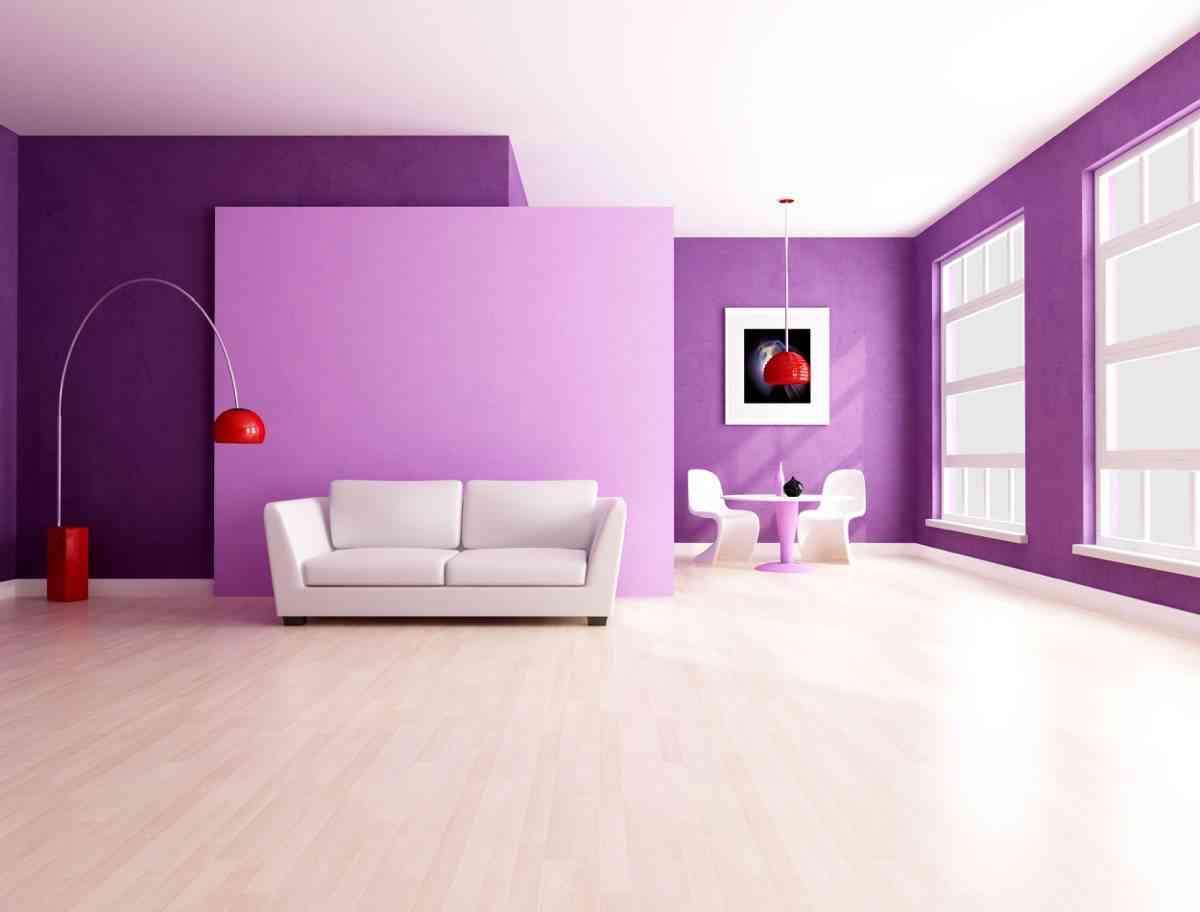 Inspiraci N Para Decorar Un Sal N Lila Y Gris ~ Combinacion De Colores Para Paredes