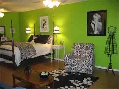 dormitorio juvenil verde