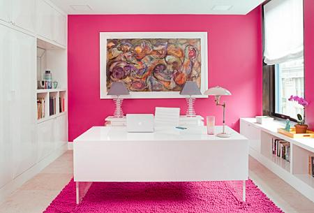 Rose Pink Craft Room