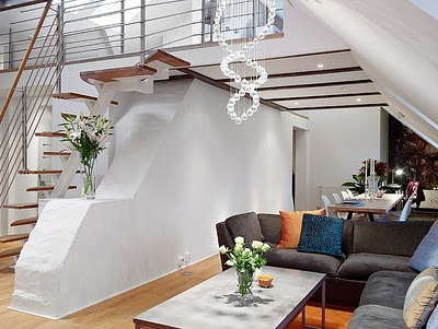 lounge under the stairs