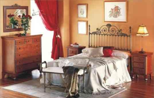 Cabecero y cama forja aluminio