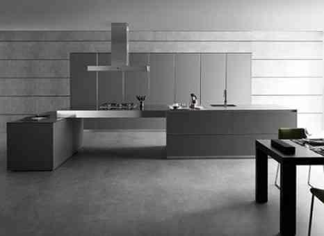 Color gris en la cocina for Cocinas en color gris claro
