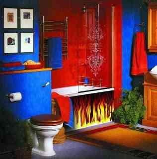 decoracion baño neón
