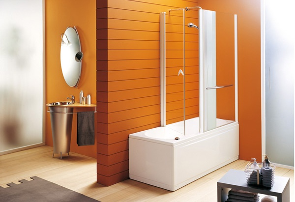 decorar baño naranja