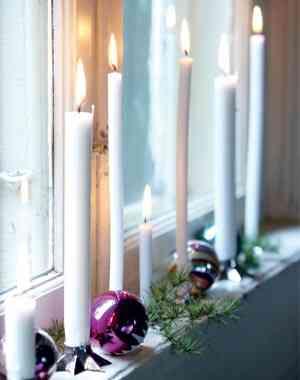 decorar la ventana con velas