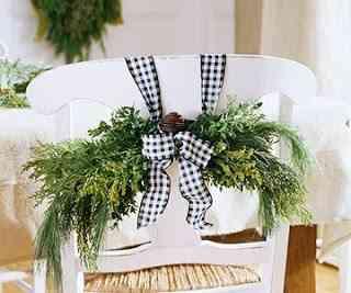 decorar las sillas para navidad