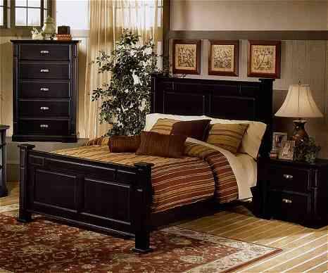 dormitorio para hombre marrón