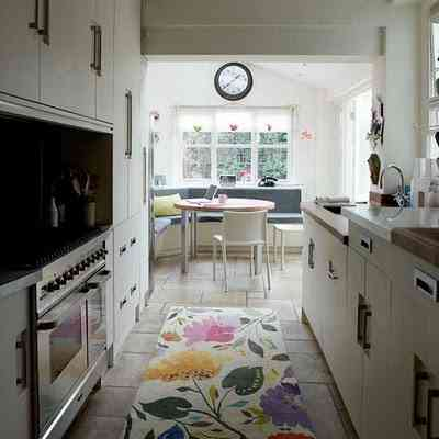 decorar cocina con alfombra