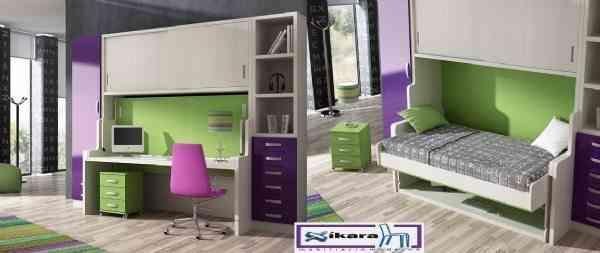 cama abatible con escritorio