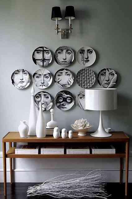 Ideas para decorar con platos - Platos decorativos pared ...