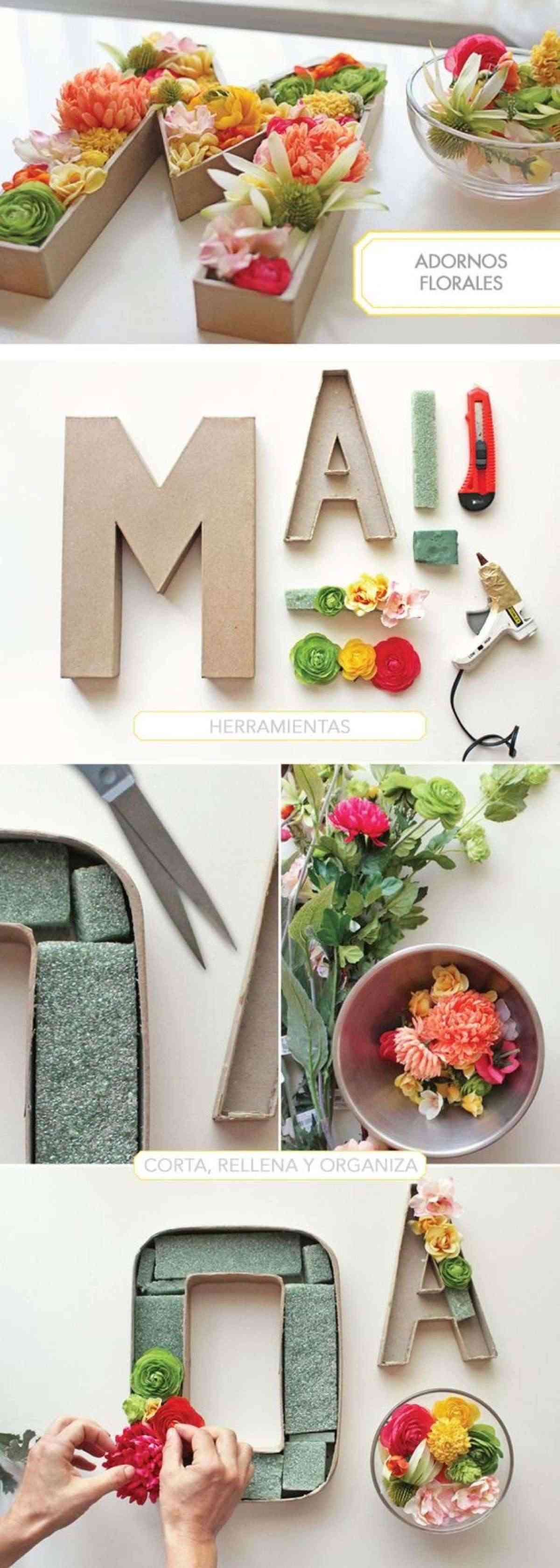 Manualidades c mo hacer letras con relieve para decorar - Letras para decorar ...