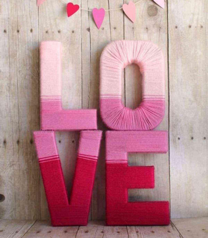 decorar con letras en relieve