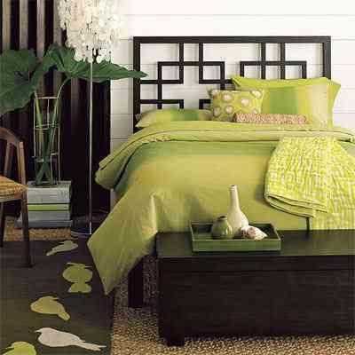 decoracion de un dormitorio verde