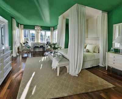 decorar dormitorio verde