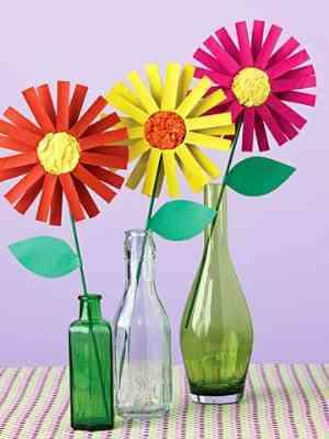 Jarrones Con Flores De Cartulina