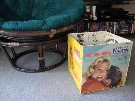Reciclar cubiertas de discos de vinilo