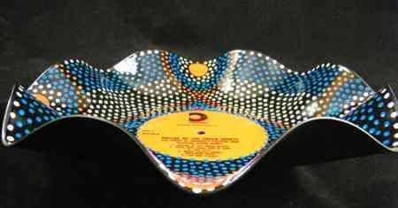 Reciclar vinilo en bol decorado