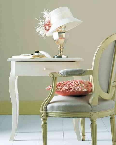 decorar con sombreros - mesa y silla
