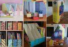 Archivadores con cajas de cereales DIY