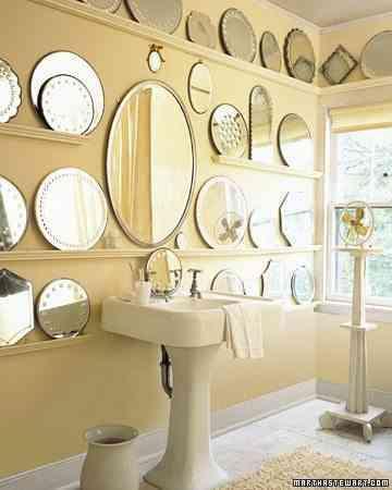 decorar baño con espejos