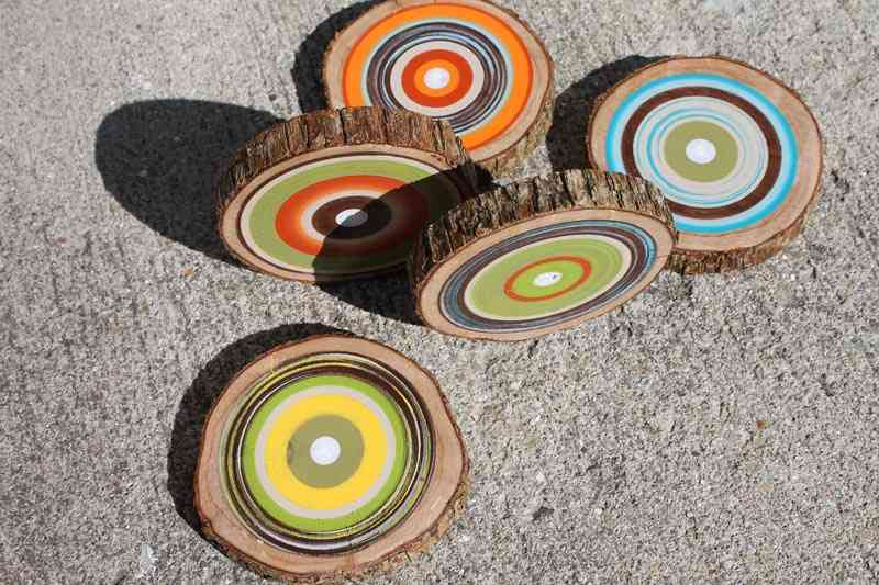 C mo decorar con posavasos de madera - Como hacer posavasos ...