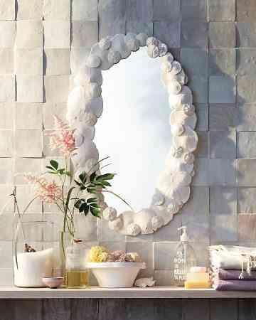 Un rinc n natural en el ba o - Decorar espejo bano ...