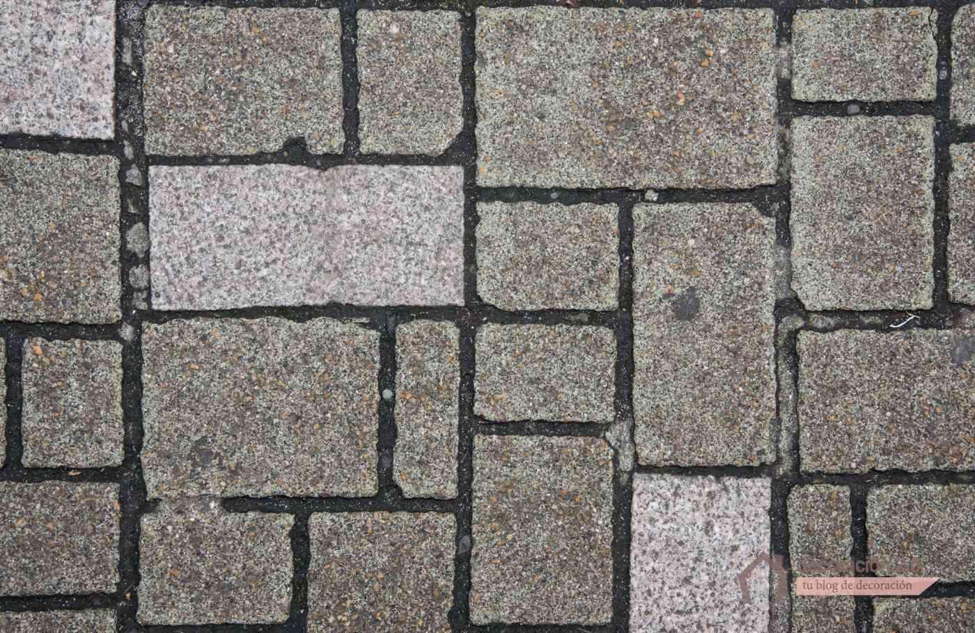 hacer suelo de piedra - formas