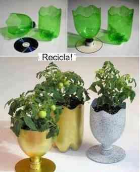 jarrones reciclados