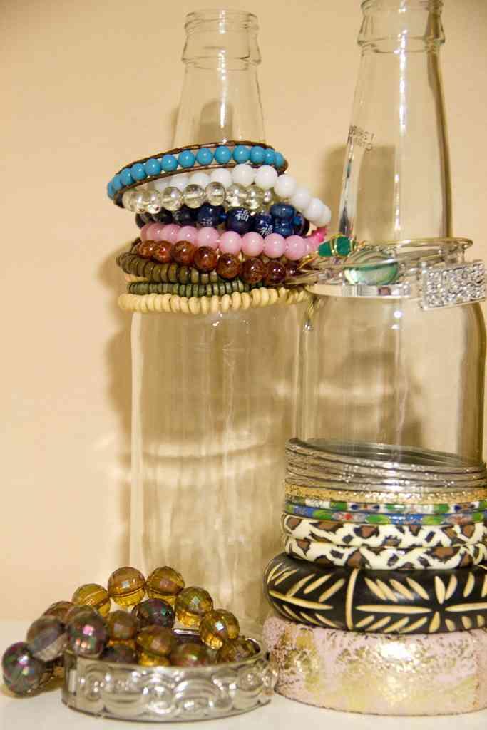 botellas de cristal para las joyas