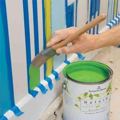 Cómo pintar paredes a rayas