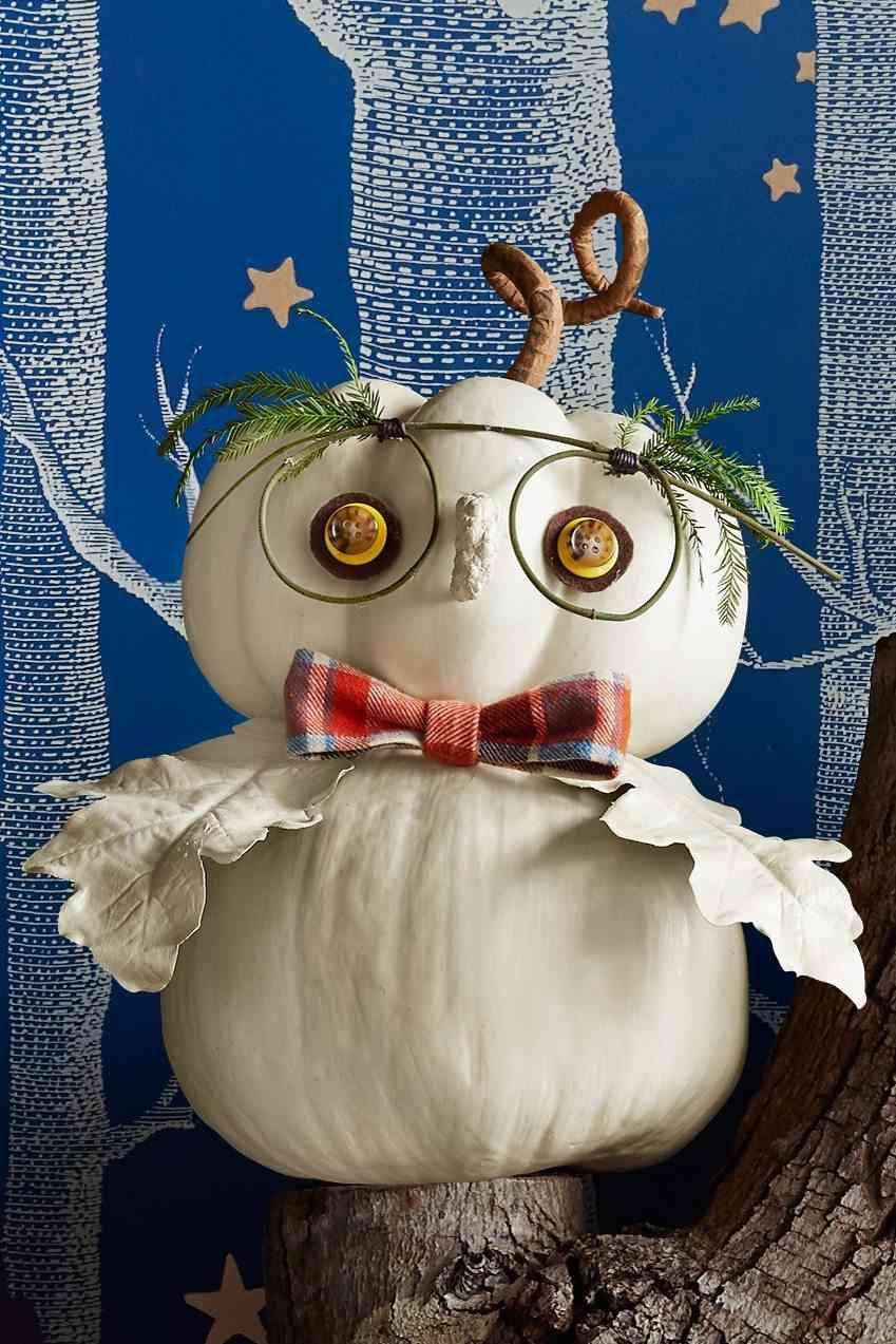 Calabazas en tu decoracion de Halloween - calabaza buho
