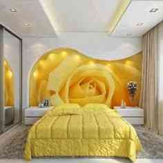 decorar dormitorio amarillo