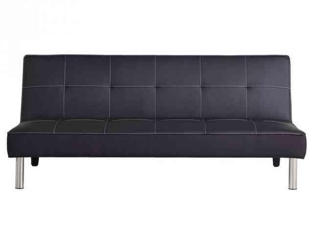 sofa cama de carrefour en polipiel - negro