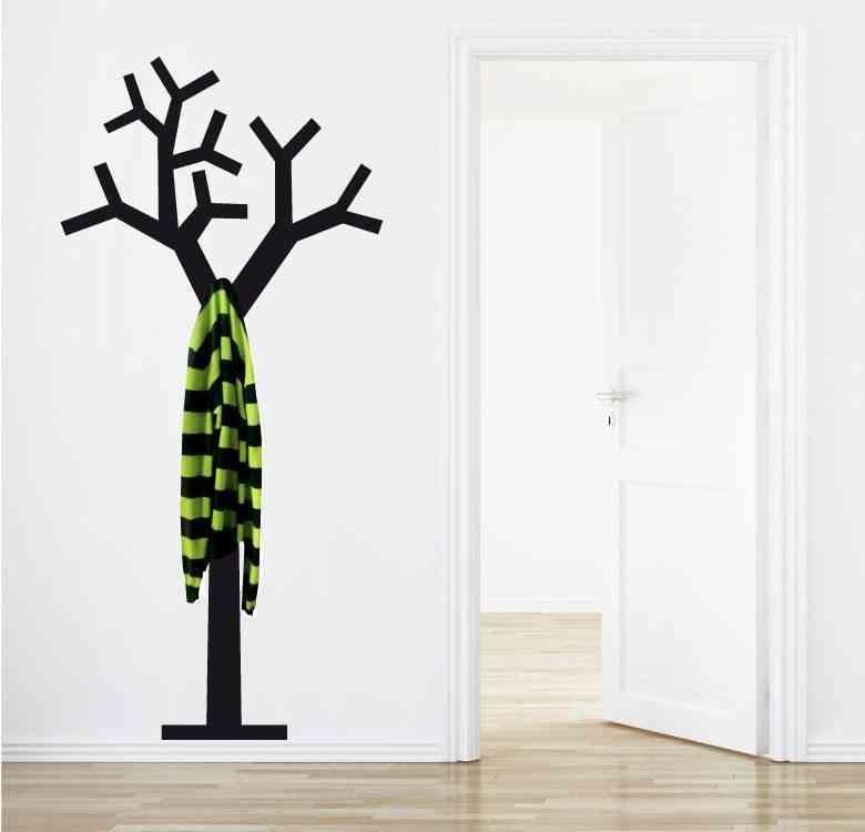 vinilo de árbol como perchero