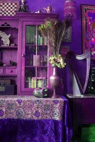 decorar purpura bohemio