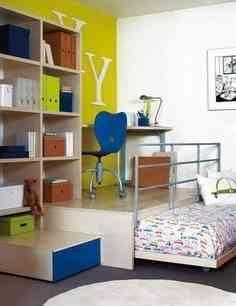 dormitorio infantil en corto espacio