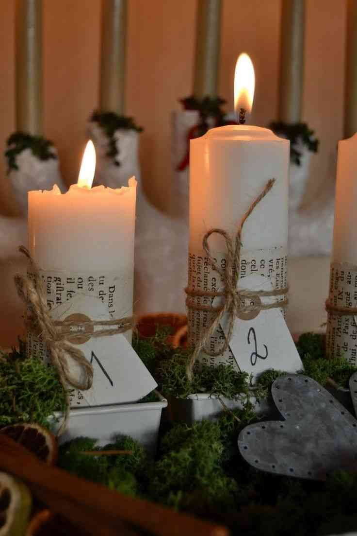 Manualidades navideñas velas de adviento