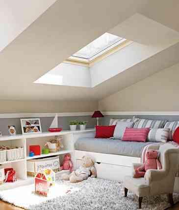 Decorar dormitorio infantil en el tico - Decorar un atico ...