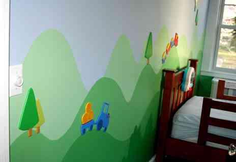 C mo pintar un mural - Pintar mural en pared ...