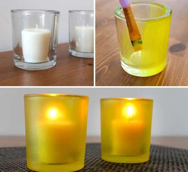 Convierte los vasos en porta velas - Porta velas navidenas ...