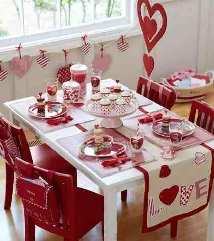 decorar la mesa en san valent n