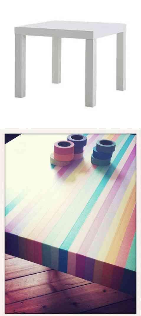 decorar la mesa con washi tape