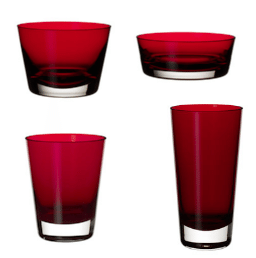 vasos rojos - san valentin