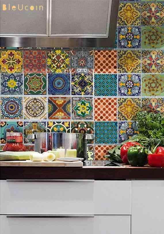 Ideas para decorar la cocina con azulejos for Decoracion casa vintage online