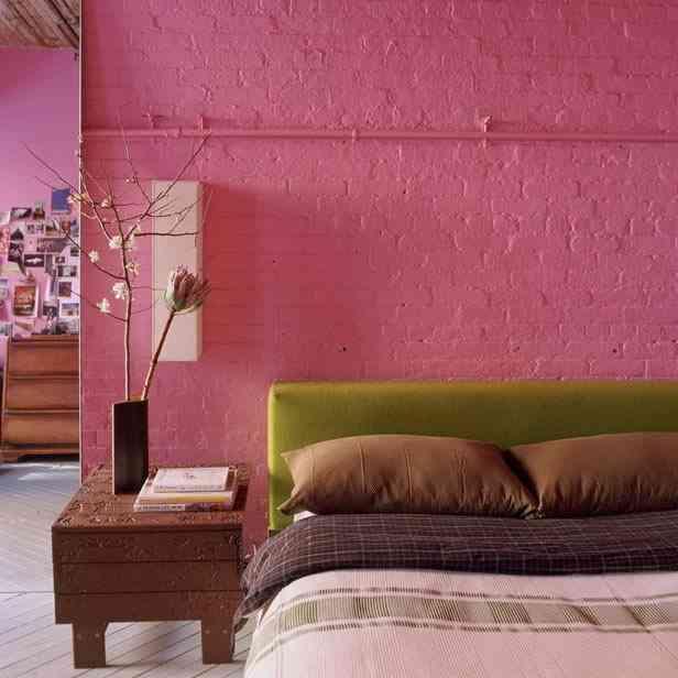 decorar dormitorio color bloc