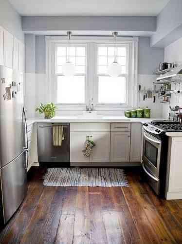 Decorar una cocina con suelo de madera - Suelo madera cocina ...
